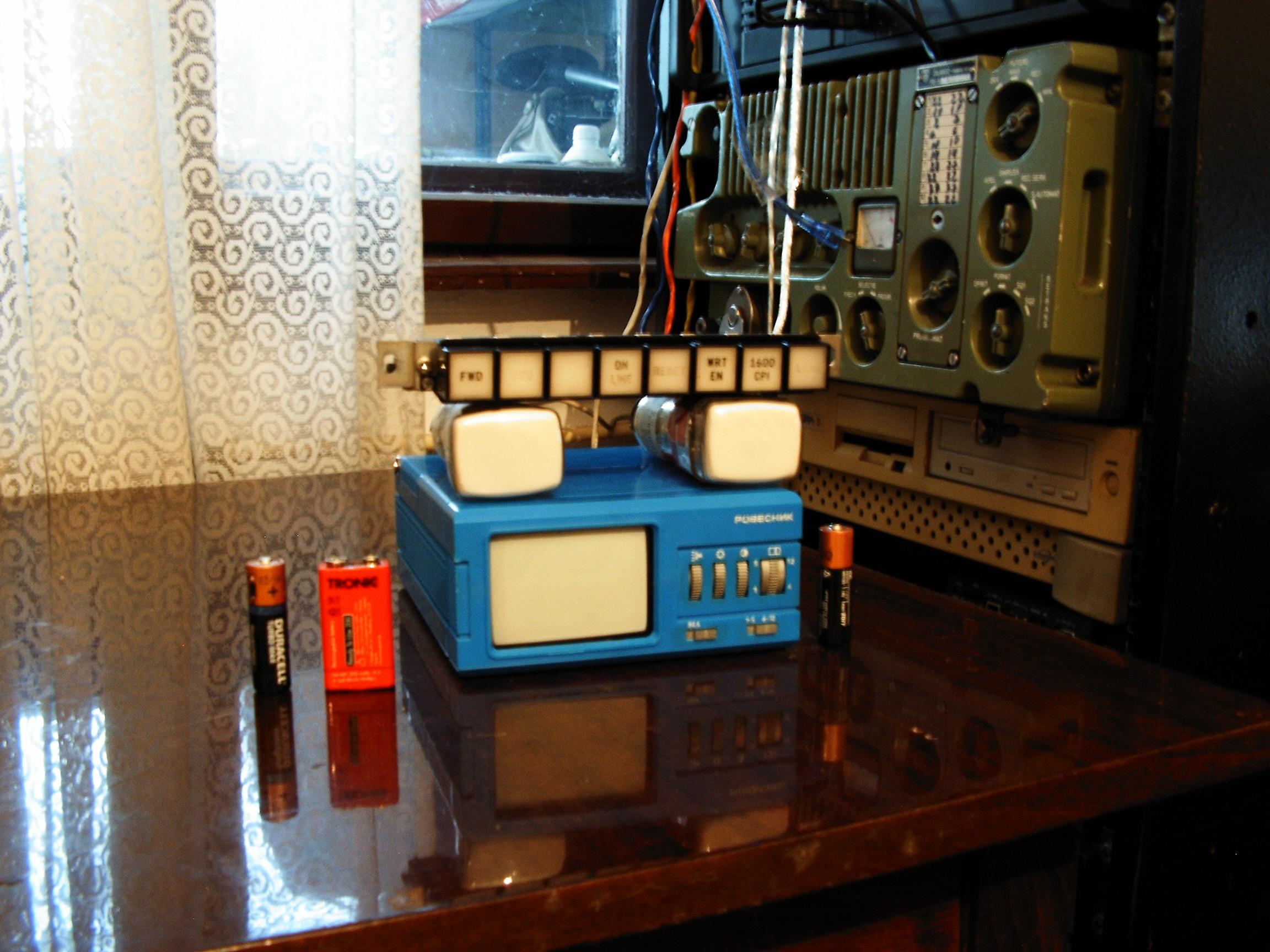 Project Retro Futuristic Automobile Control Panel Rotative Speed Regulator Borer Driller Controller These Are The Two D5 100w 2 Oscilloscope Crts Which Supposed To Stay In Right Side Of Color Display Also Rovesnik Russian Tv Set