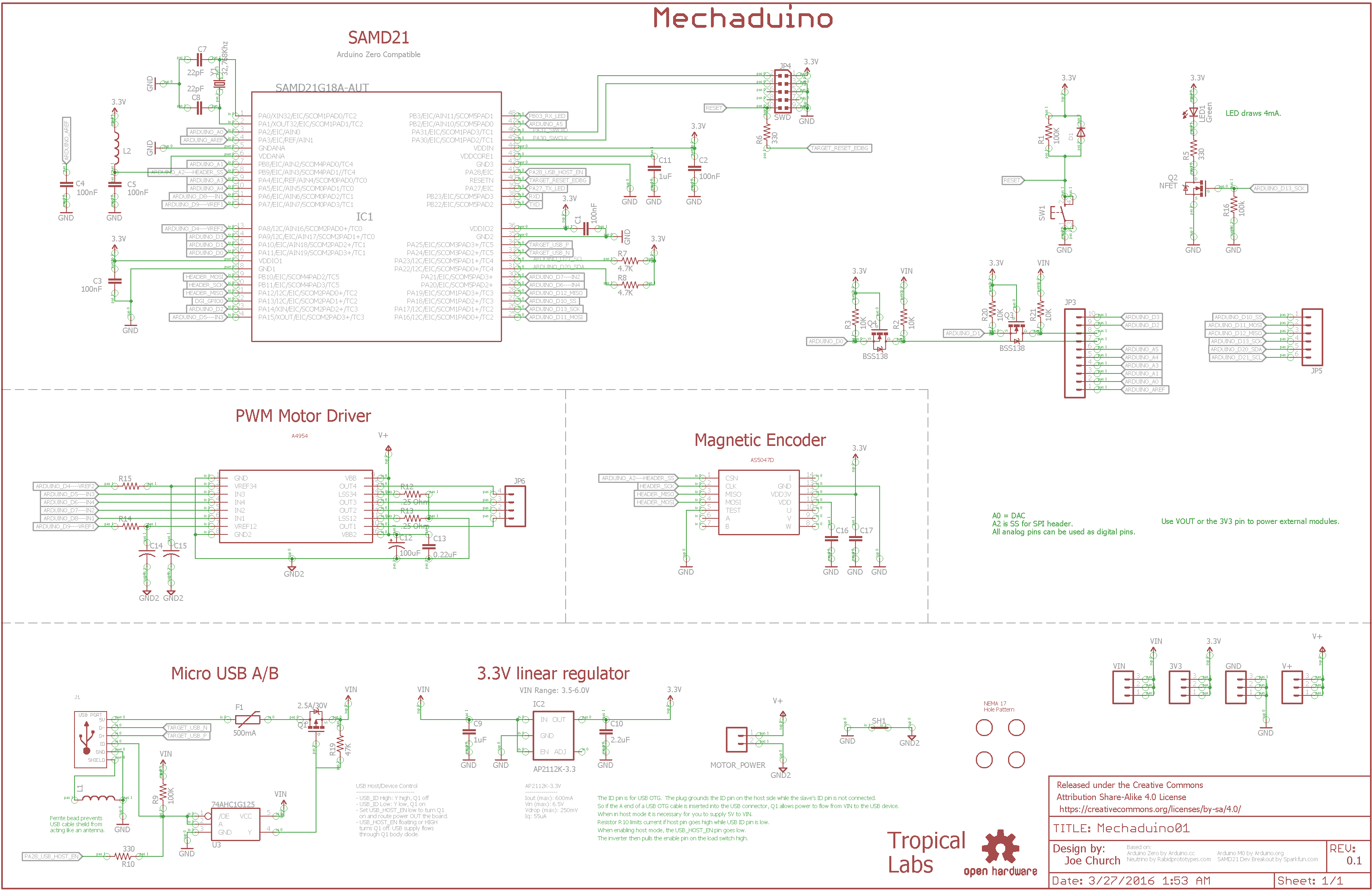 Mechaduino Stepper Motor Controller Circuit Diagram And Instructions Download
