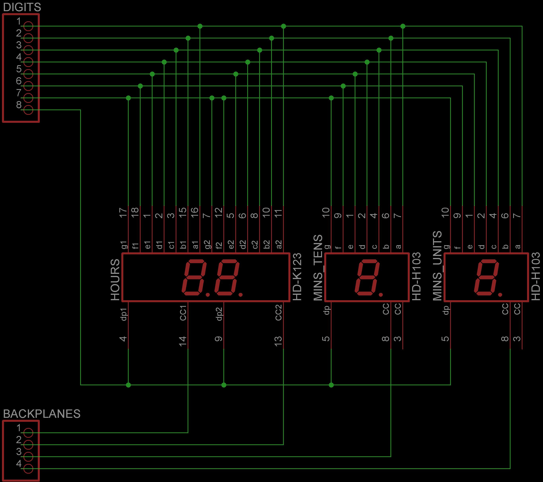 Retro 7 Segment Digital Clock Diagram Home Voltmeter Circuit Led Display Board Schematic For 600 Dpi