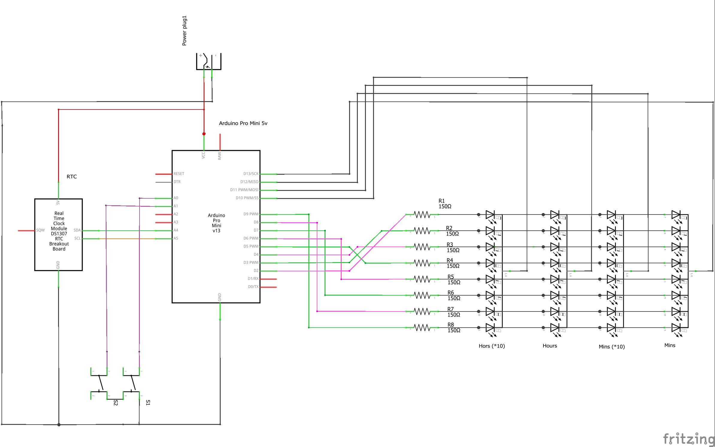 Retro 7 Segment Digital Clock Diagram Home Voltmeter Circuit Led Display Schematic