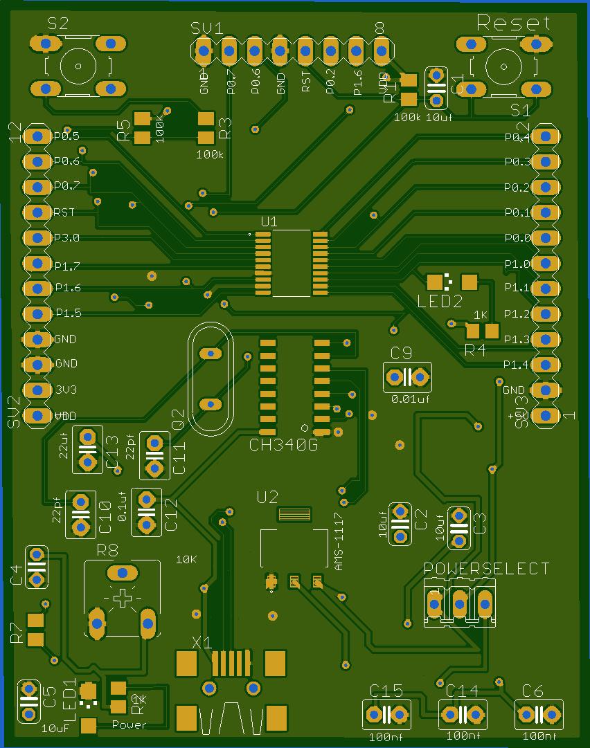 Board development for NUVOTON-N76E003 | Hackaday io