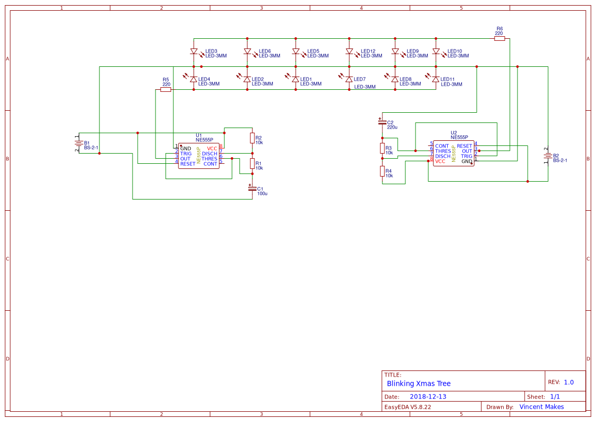 Ne555 Christmas Tree Led Projects Circuits Schematic