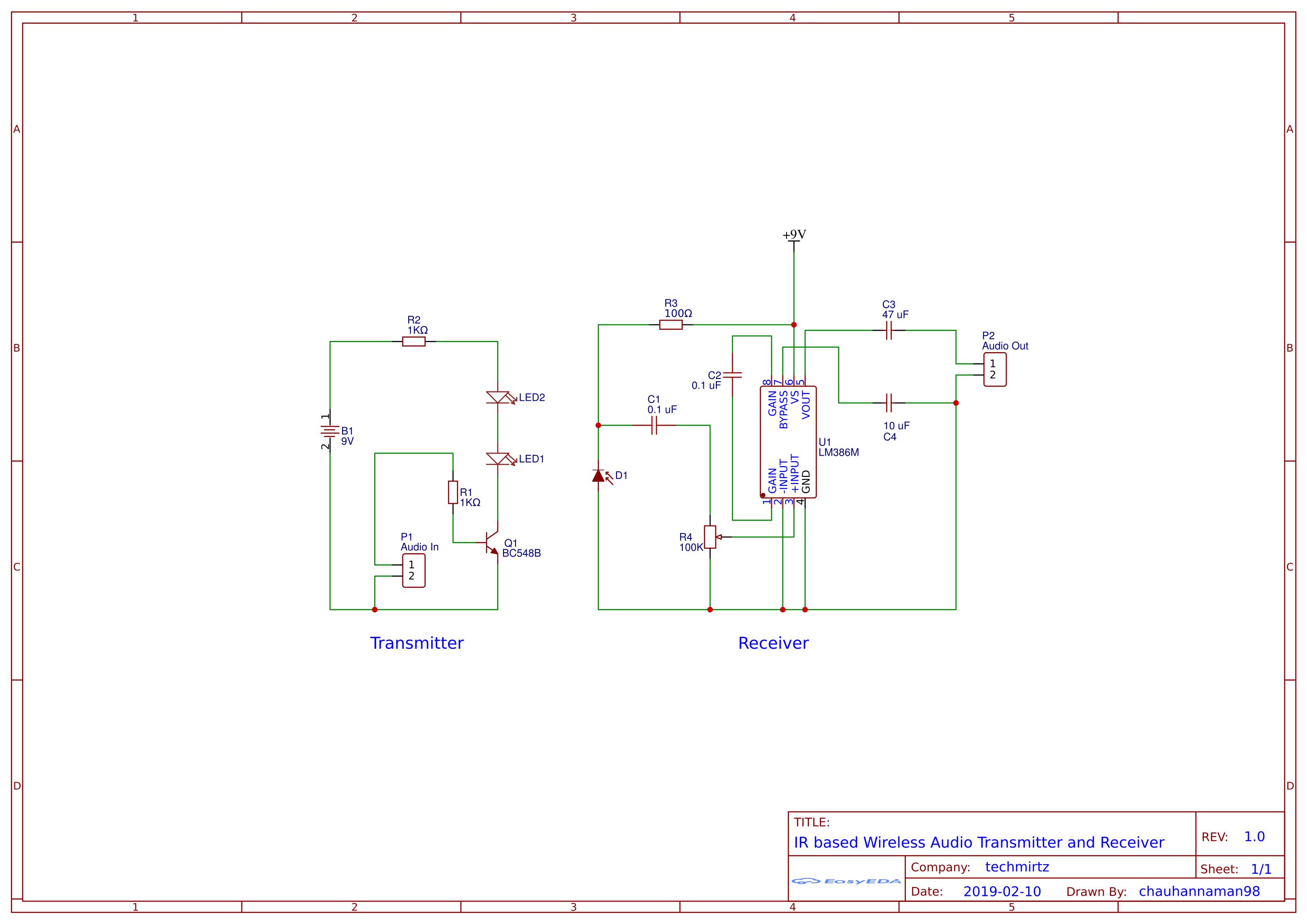 Simple Audio Amplifier Circuit Lm386