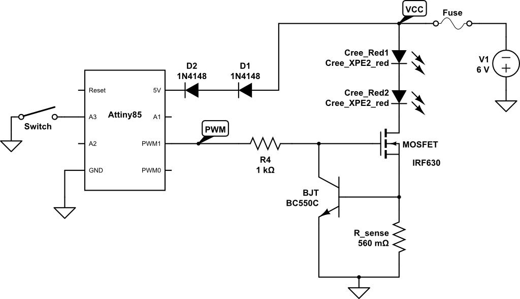 cree led flashlight wiring diagram e bike led flashlight hackaday io  e bike led flashlight hackaday io