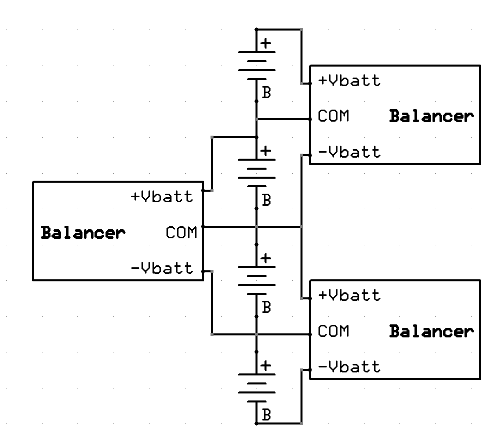 balanced battery wiring diagram low cost non dissipative active battery balancer hackaday io  non dissipative active battery balancer