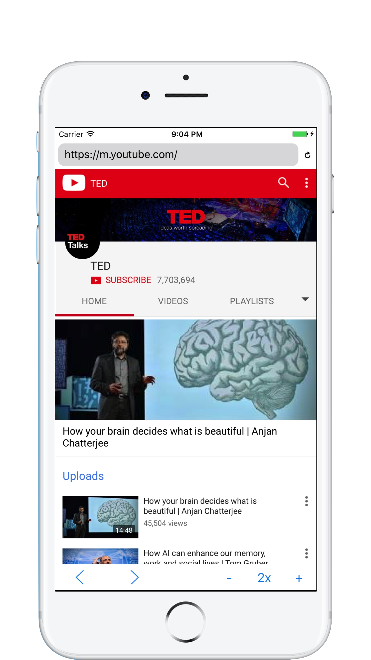 Watch Online Videos at 2x Speed