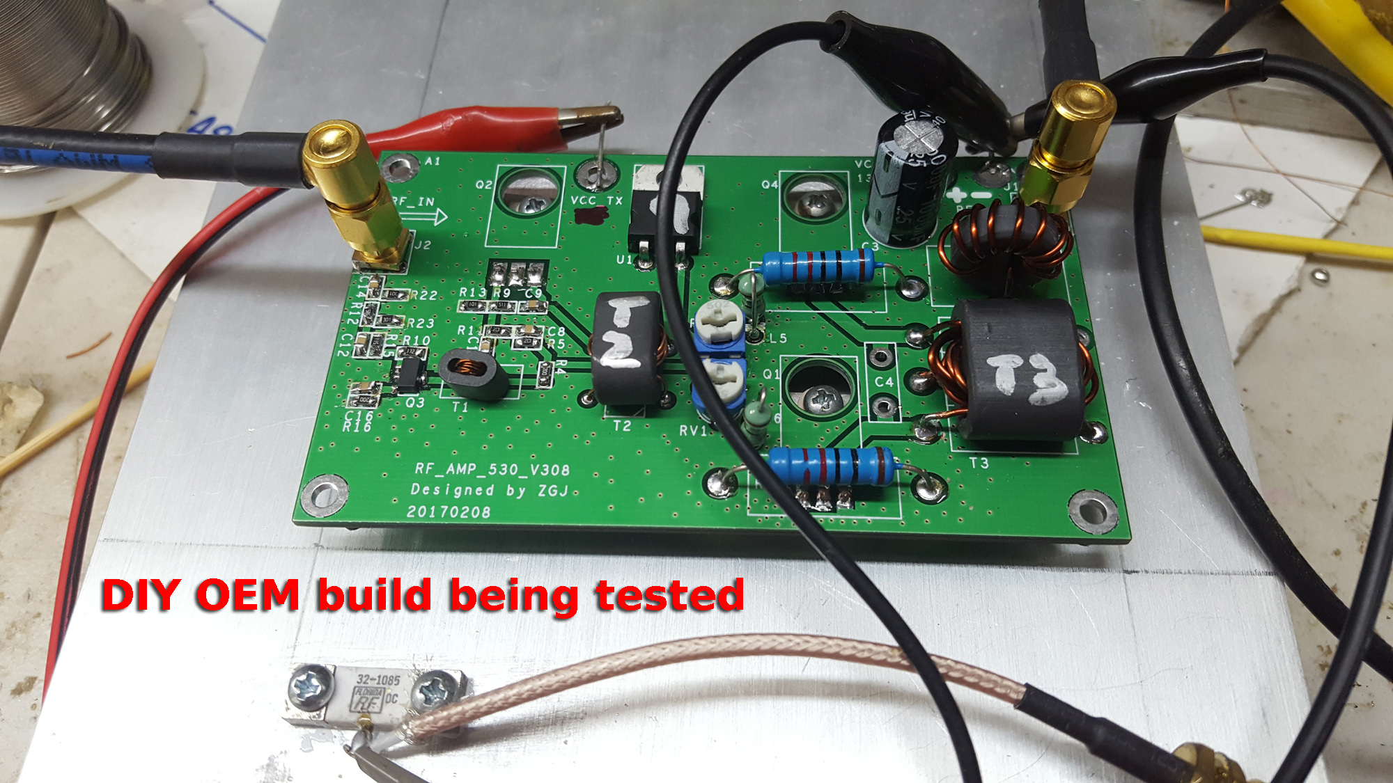 45w Rf Ssb Cw Amp Ebay Diy Build 55w Upgrade 100w With Pcb Power Amplifier Circuit Download