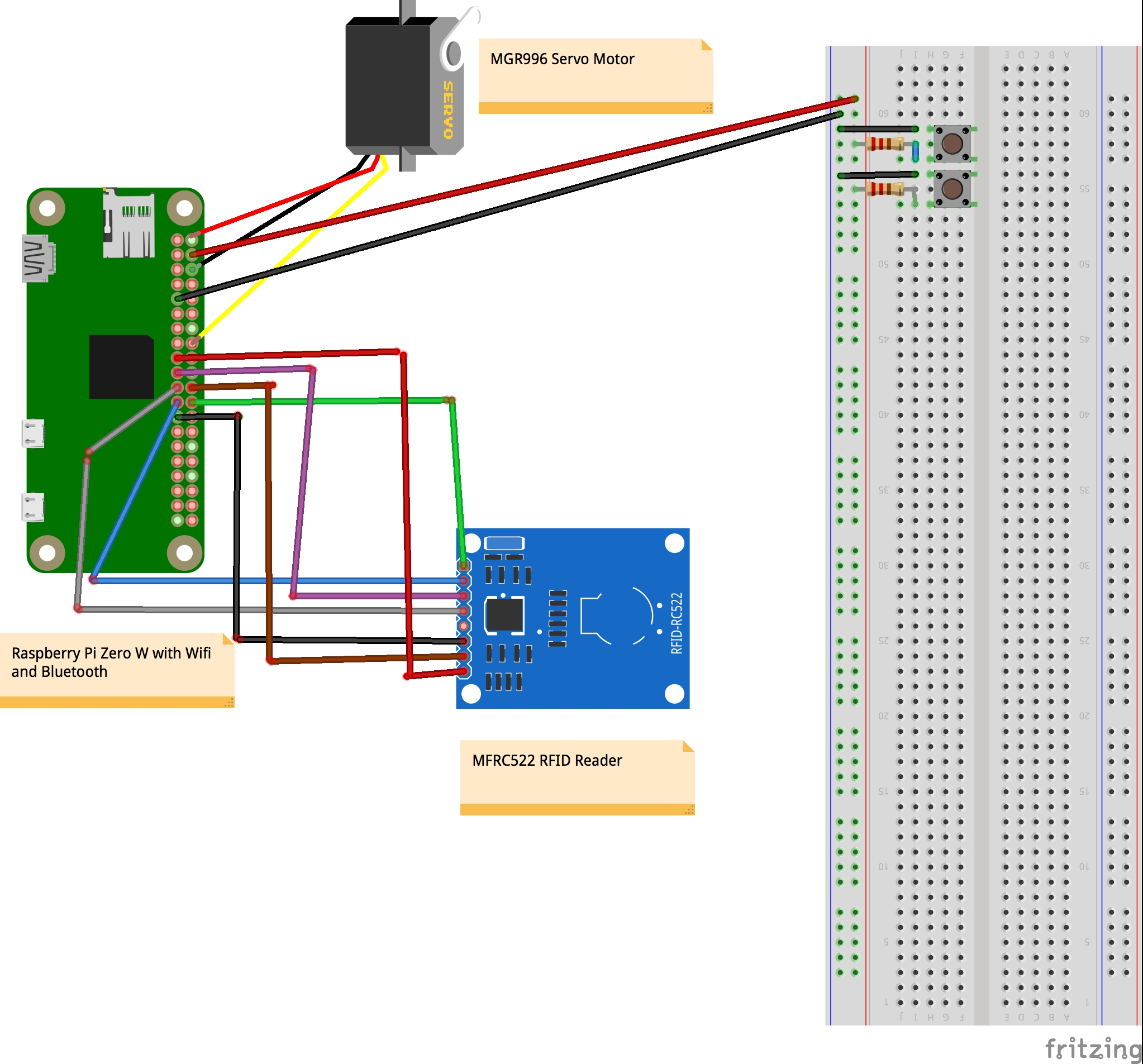A Door Lock with RFID and Alexa App Access | Hackaday io