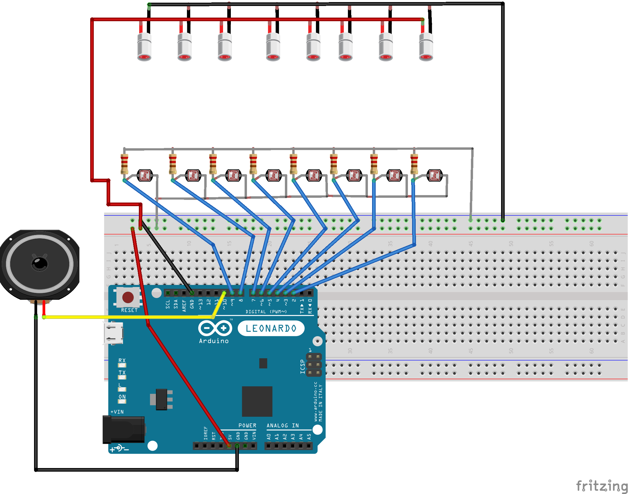 Diy Laser Piano L D R Circuit Diagram And Schematic