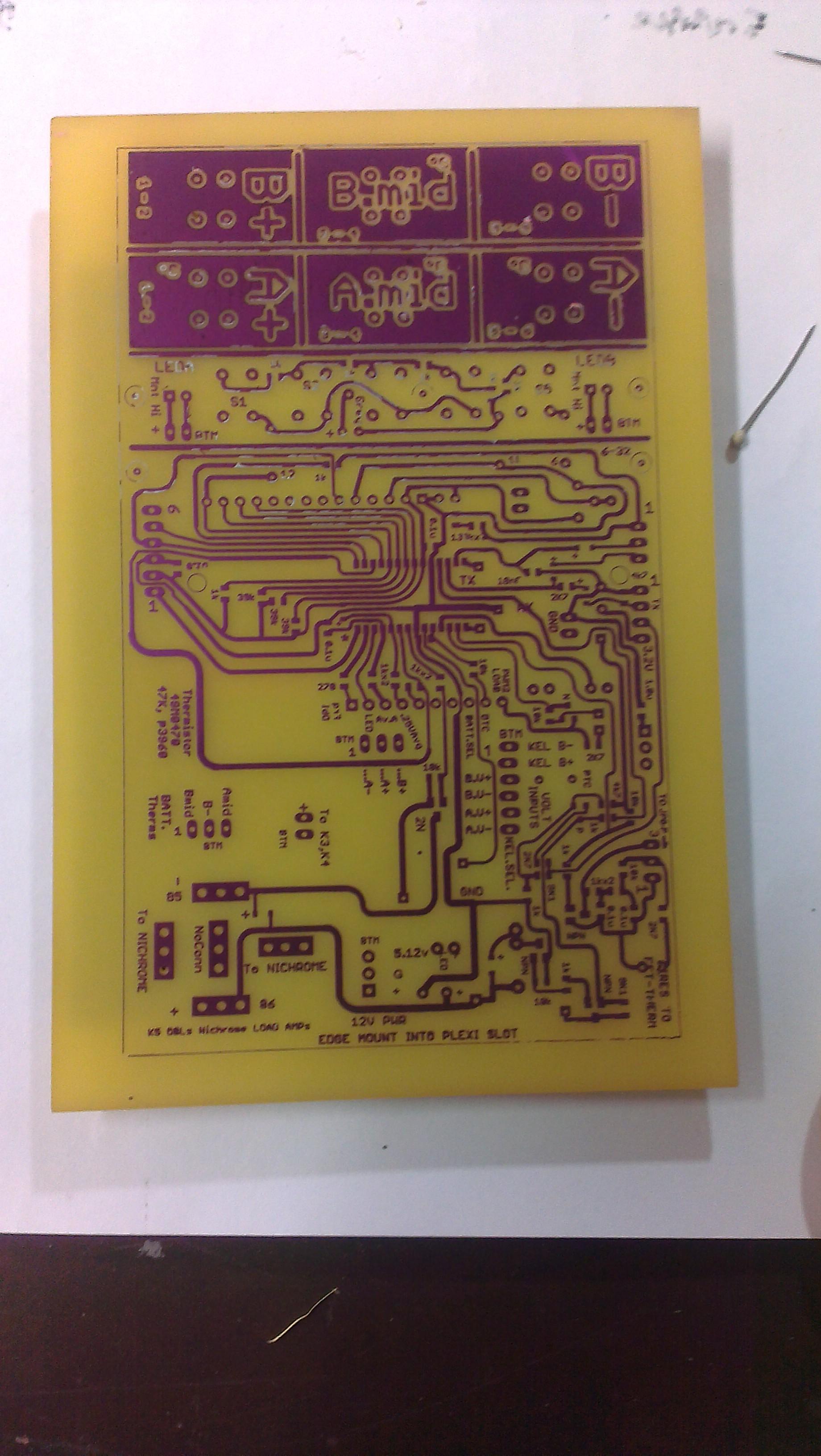 Apache Al13p Tl 320b One Pass Pcb Toner Xfer Etching Circuit Boards 9g Etch Layer1