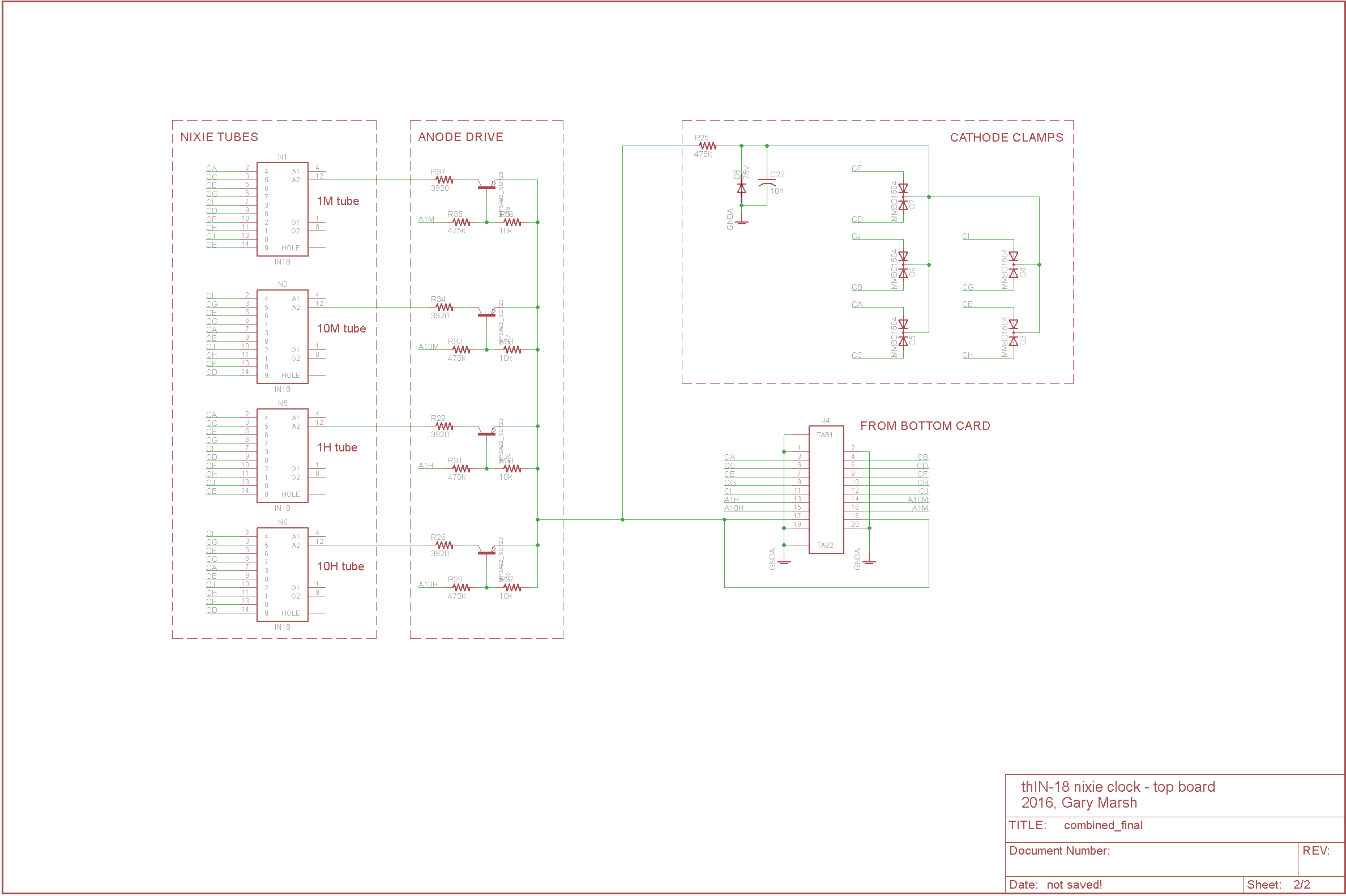 The Thin 18 Nixie Tube Clock Schematic Of My 6 Digit Here Are Some Photos Download