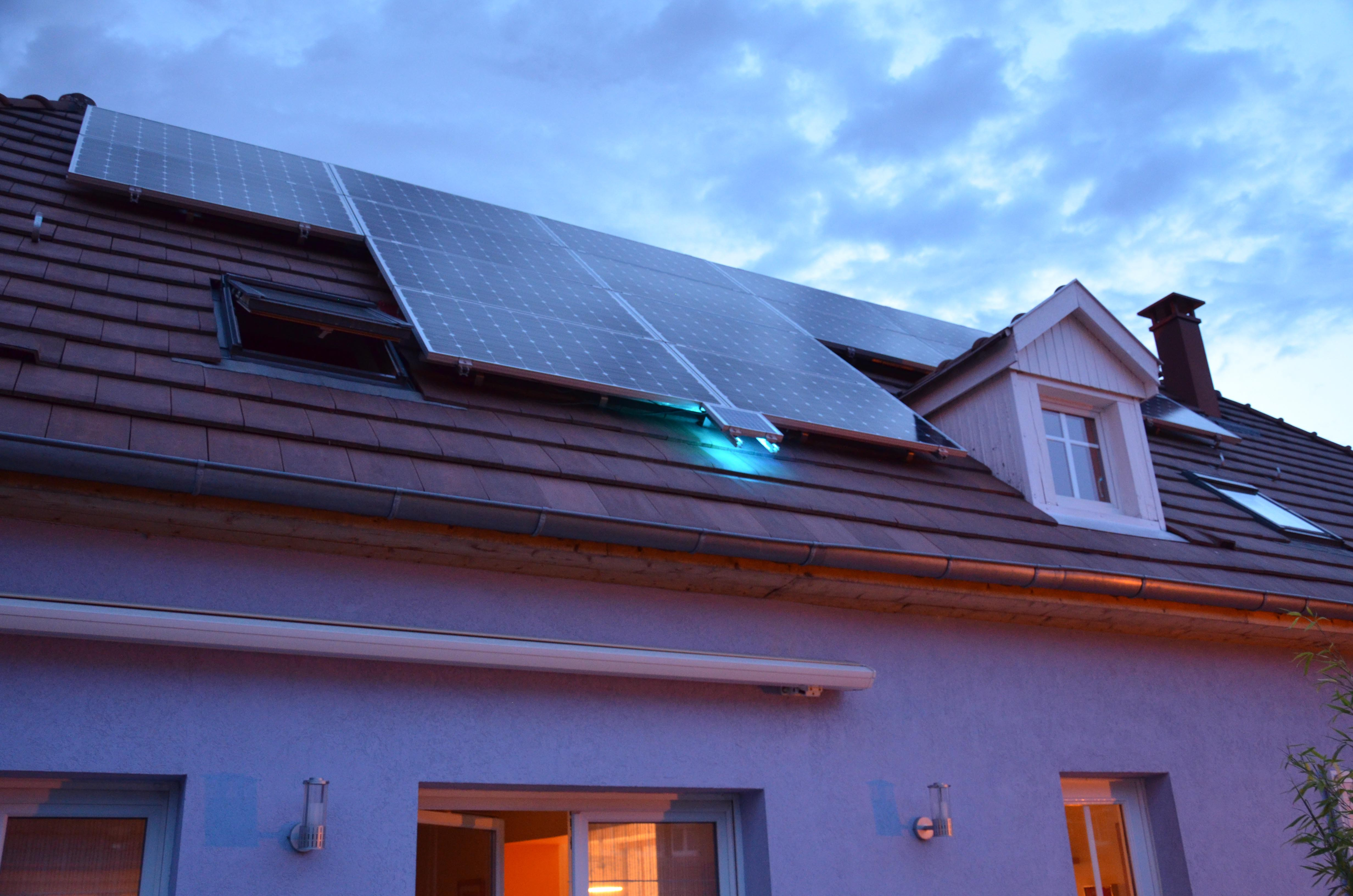 the house is supplied by the pv system