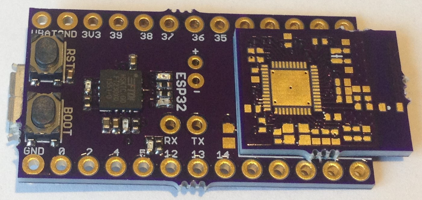 Small Esp32 Module For Easier Custom Design Circuit Board Cost Tomorrows Task Is To Assemble One Or More Of The Modules And Then Solder Them Onto Daughter Required Pullups On Nrst Gpio0