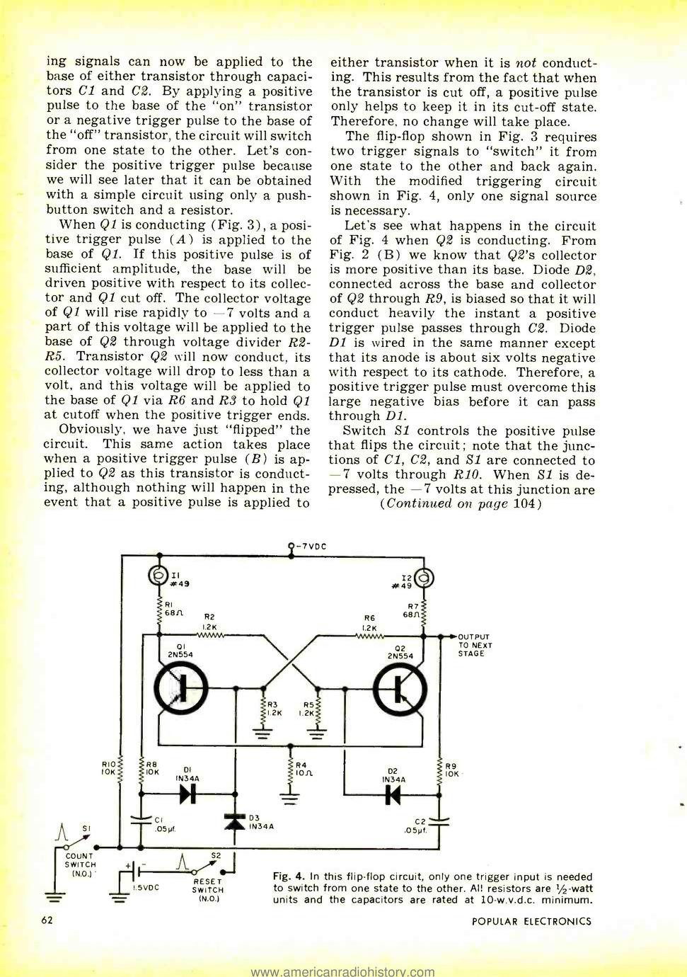 Clockwork Germanium Simple Electric Generator Diagram Http Wwwseekiccom Circuit From The Experience With 10tff And Looking At Vintage Circuits I Realise Something About Edge Triggered Flip Flops Only 2 Transistors