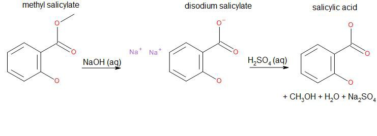 synthesis of salicylic acid from wintergreen oil lab report Here's a simple synthesis of methyl salicylate (oil of wintergreen), for those that just  salicylic acid, ohc 6h 4cooh concentrated sulfuric acid, h 2so 4.