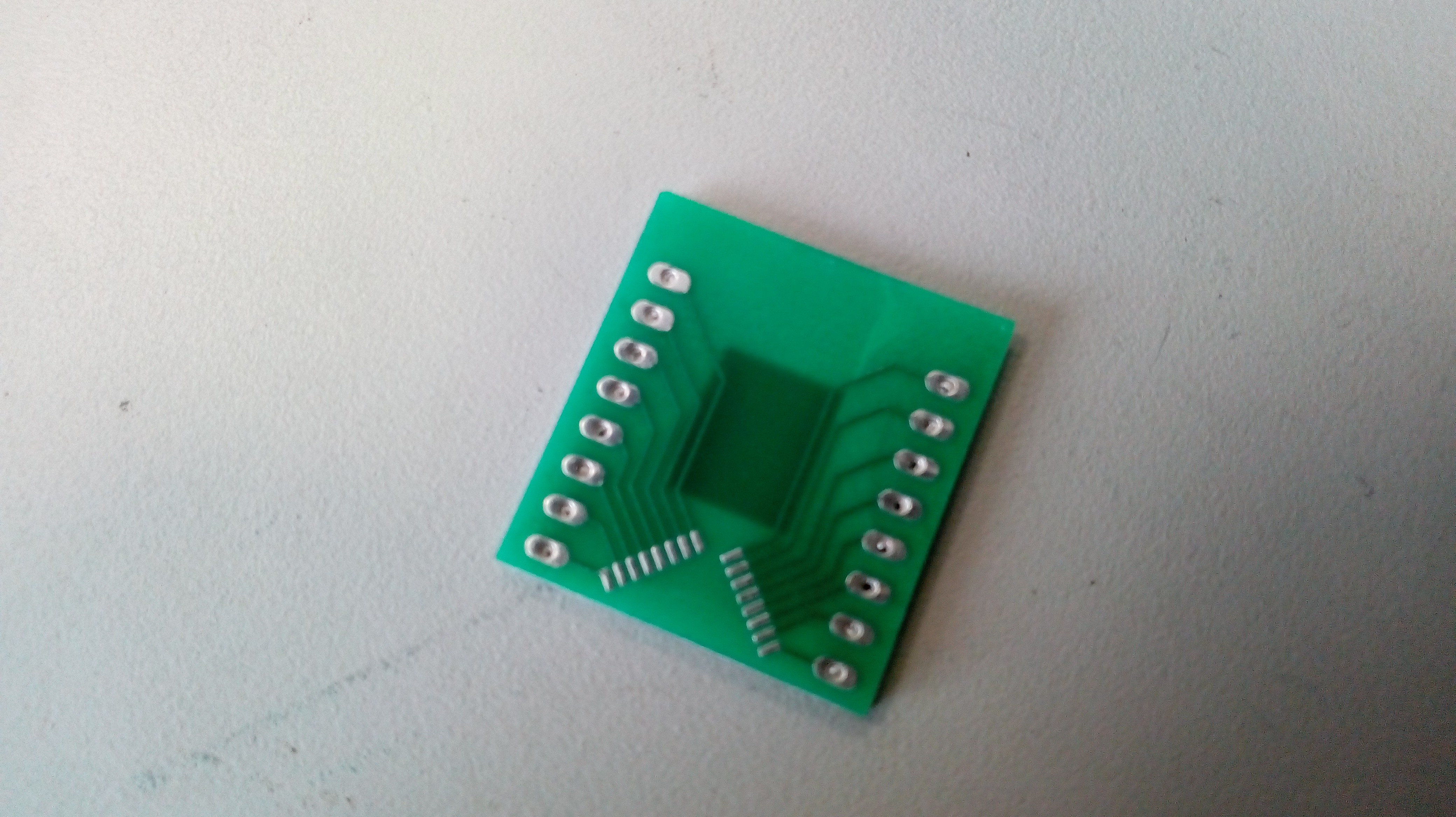 Larger Than One Square Inch Pcb Breakout Diy How To Create Your Printed Circuit Board O Hackadayio I Had Only Access Cutter Able Cut 7mm Deep So Island Of Material Untouched In The Middle