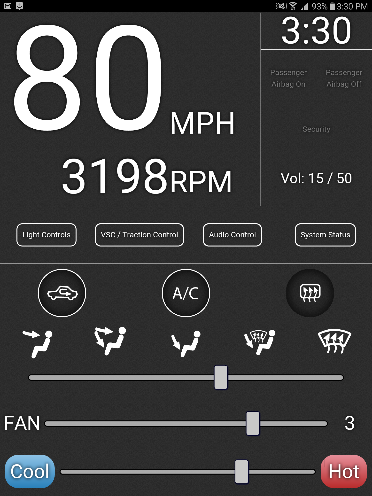 Android Car Climate Control