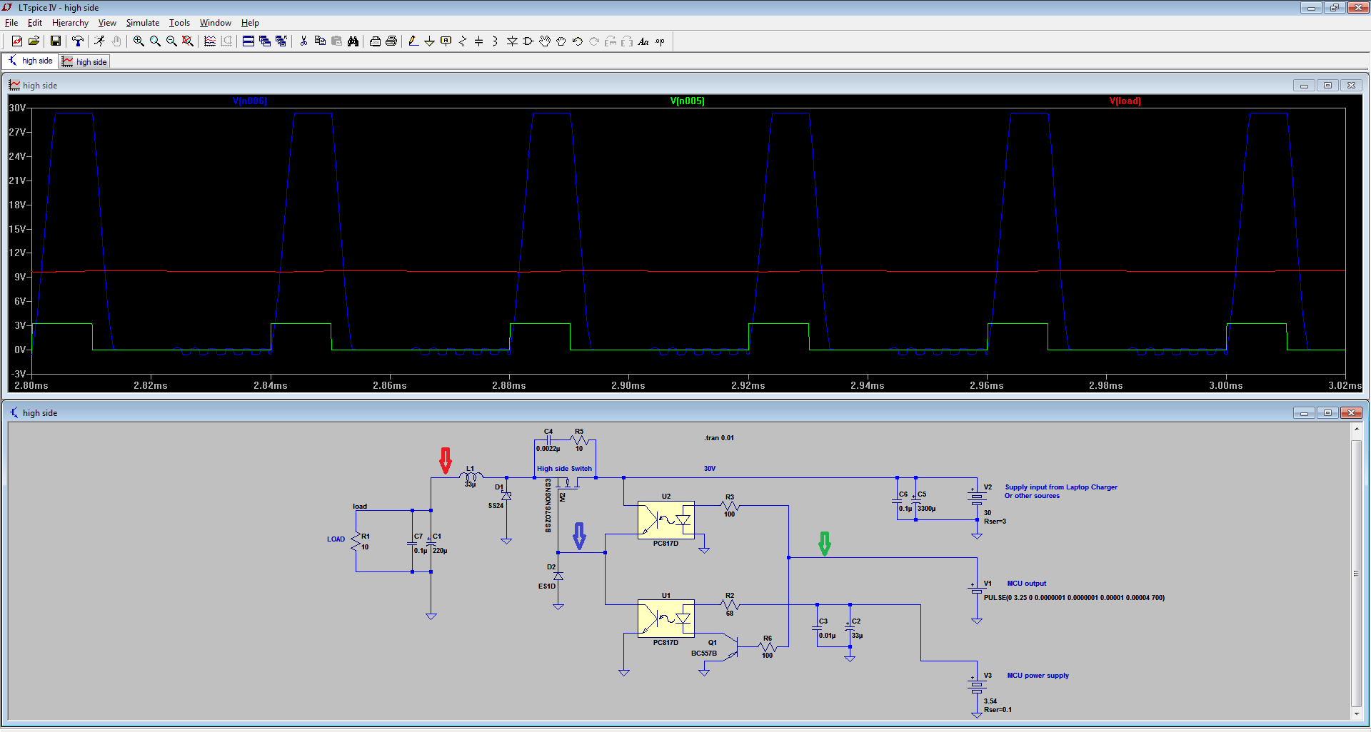 Spice simulation of the Buck converter | Details | Hackaday io