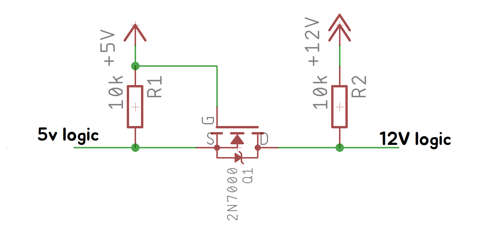 Test 5v 12v Level Shifter Details Fet Voltmeter Circuit Schematic Diagram I Wanted To Use Logic On It But My Mcu Uses So Used A Mosfet Based Shifterthe This Site