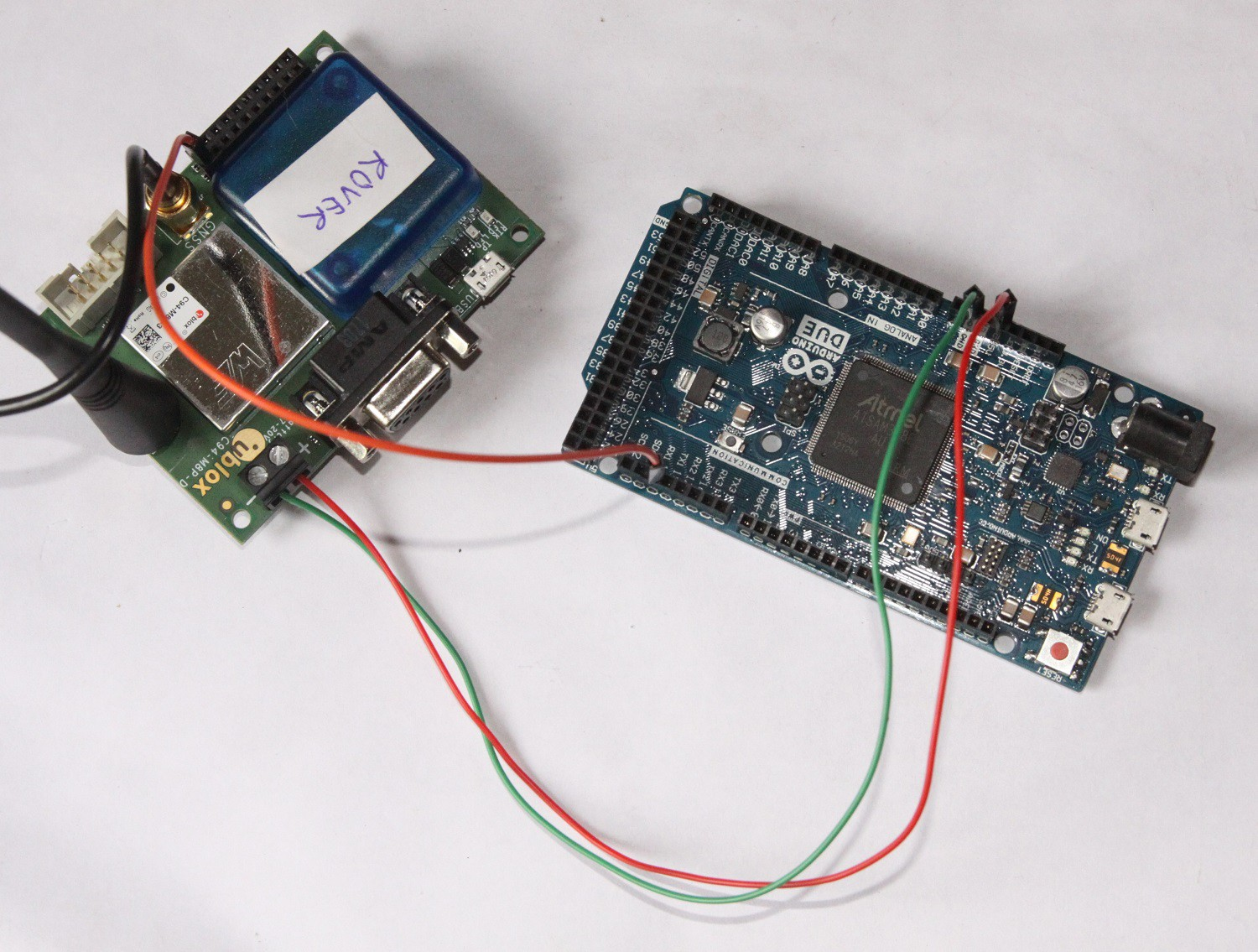 How to connect c m p board arduino tx and rx