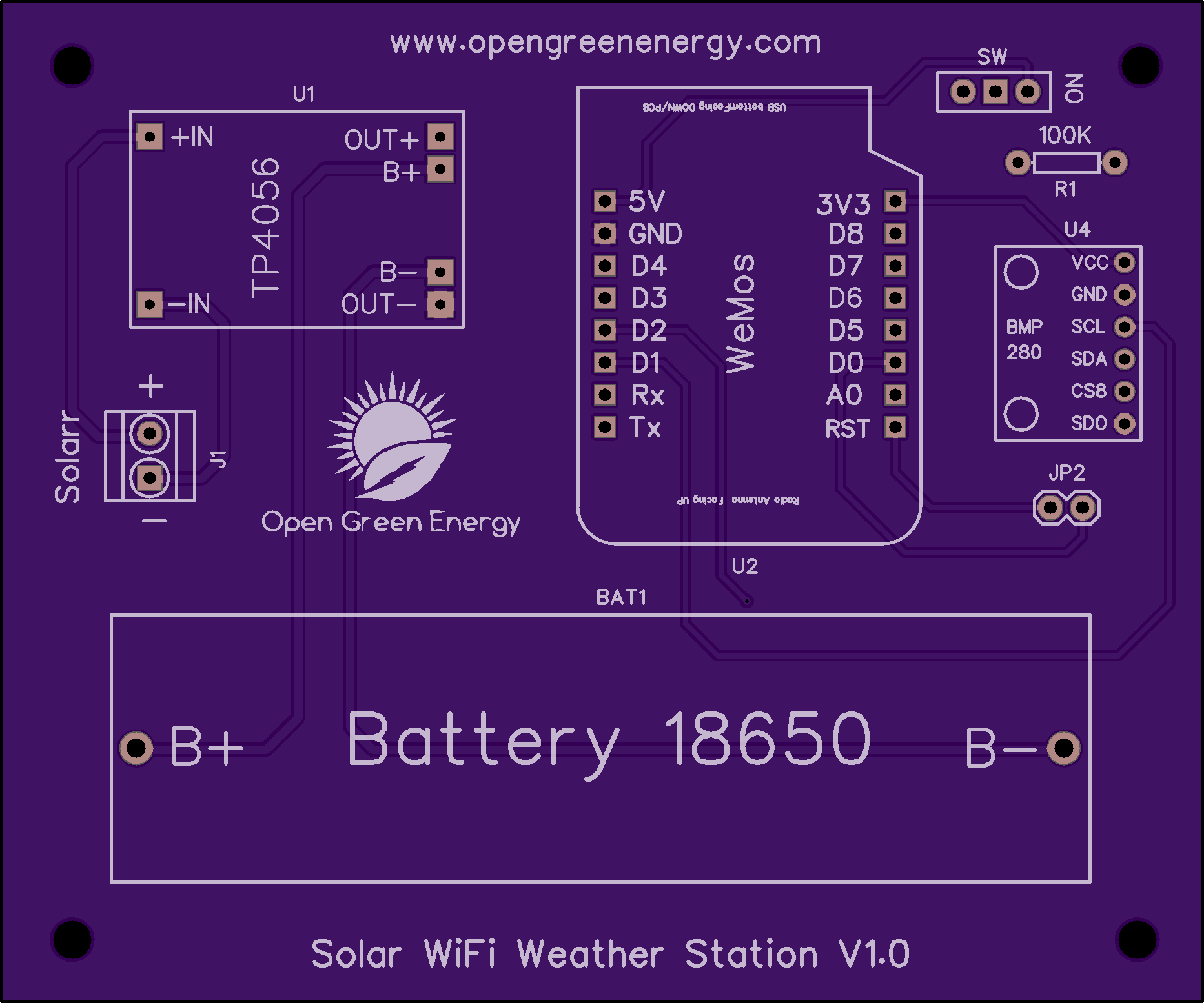 Solar Powered Wifi Weather Station Arduino Li Ion Battery Charger The Pcb Is Still Not Tested Waiting For Its Arrival