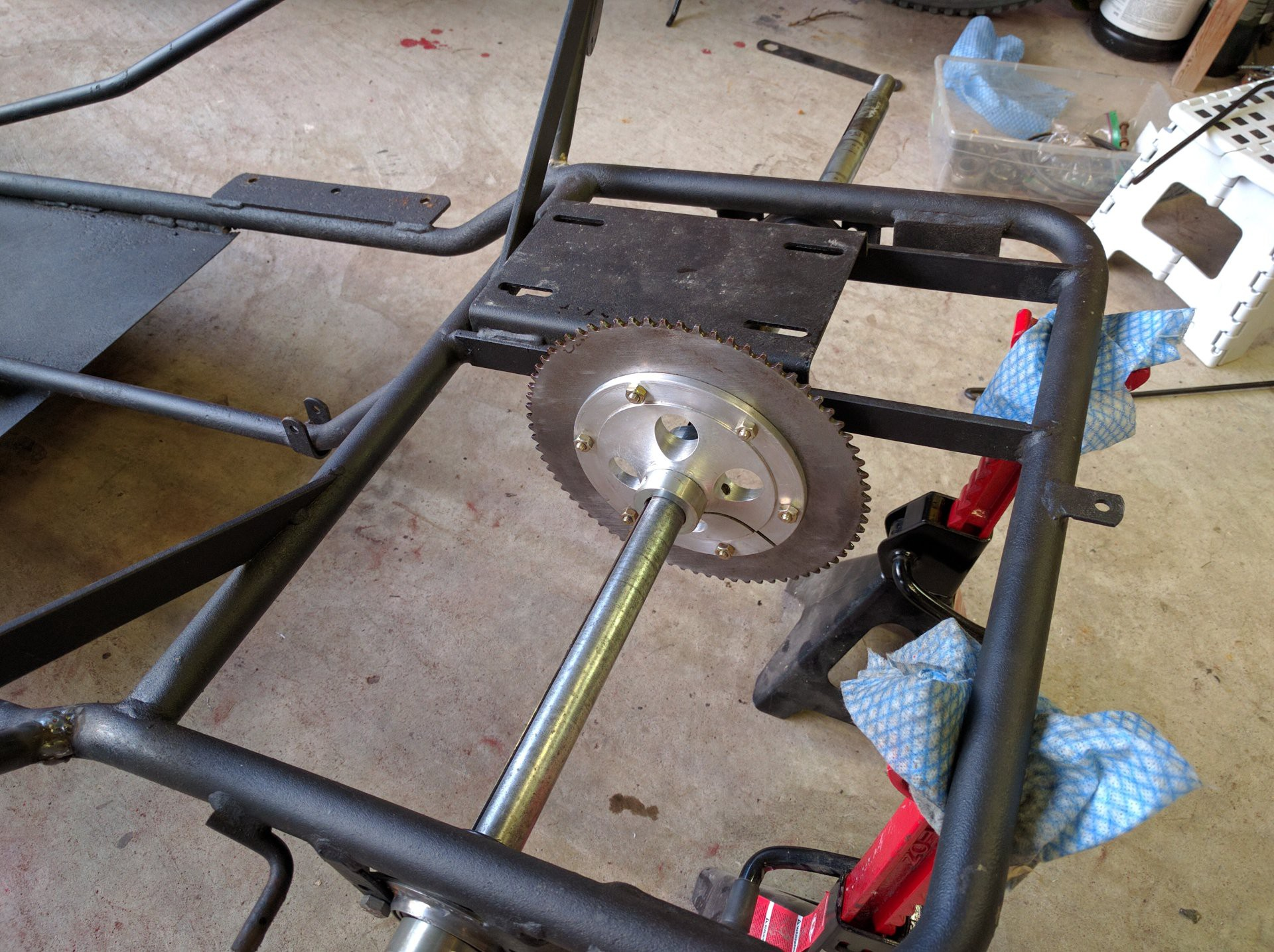 how to install live axle on go kart