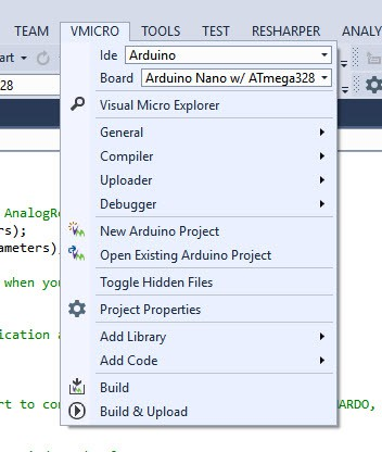 Setting up of Visual Studio 2015 instead of Arduino Sketch