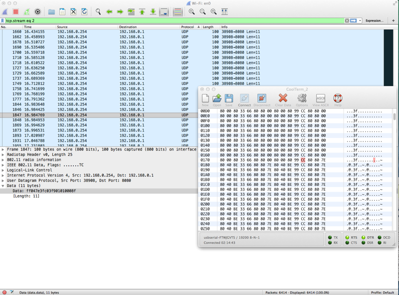 Wireshark to the rescue / figuring out a UDP data stream