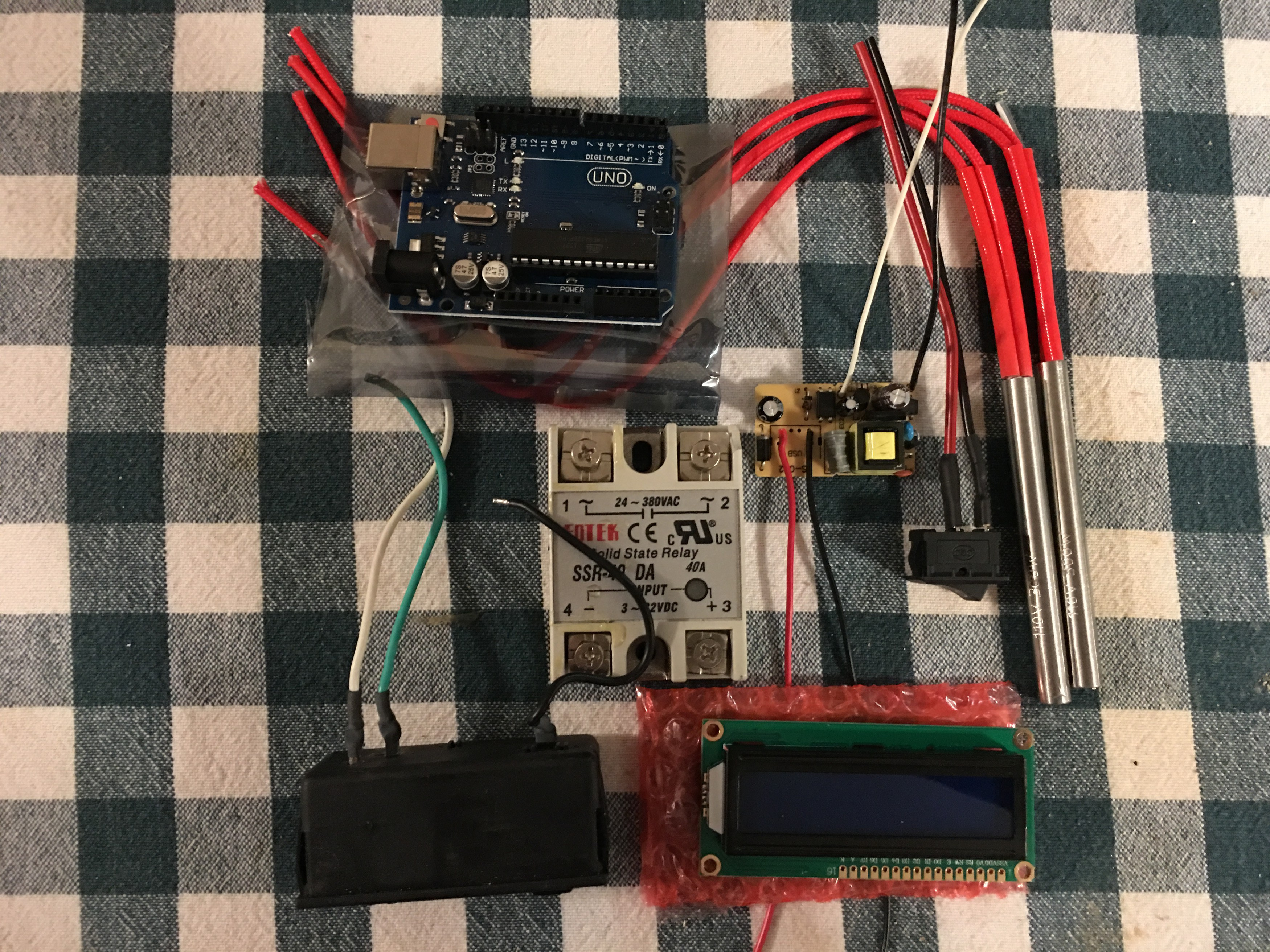 Diy Hotplate Make Your Own Temperature Controller With An Arduino Since I Plan On Building 3 Hotplates Have Kits Some Of The Parts Are Currently Being Used In My Pid Control Box And Will Pull Those Out After