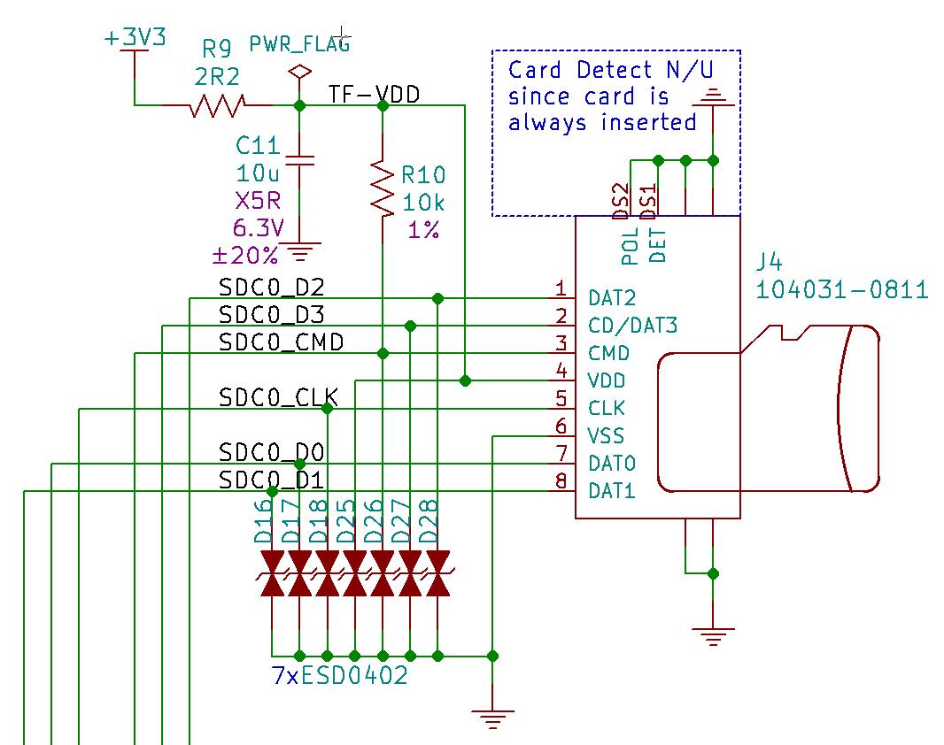 Schematics: SD Card - FunKey Project