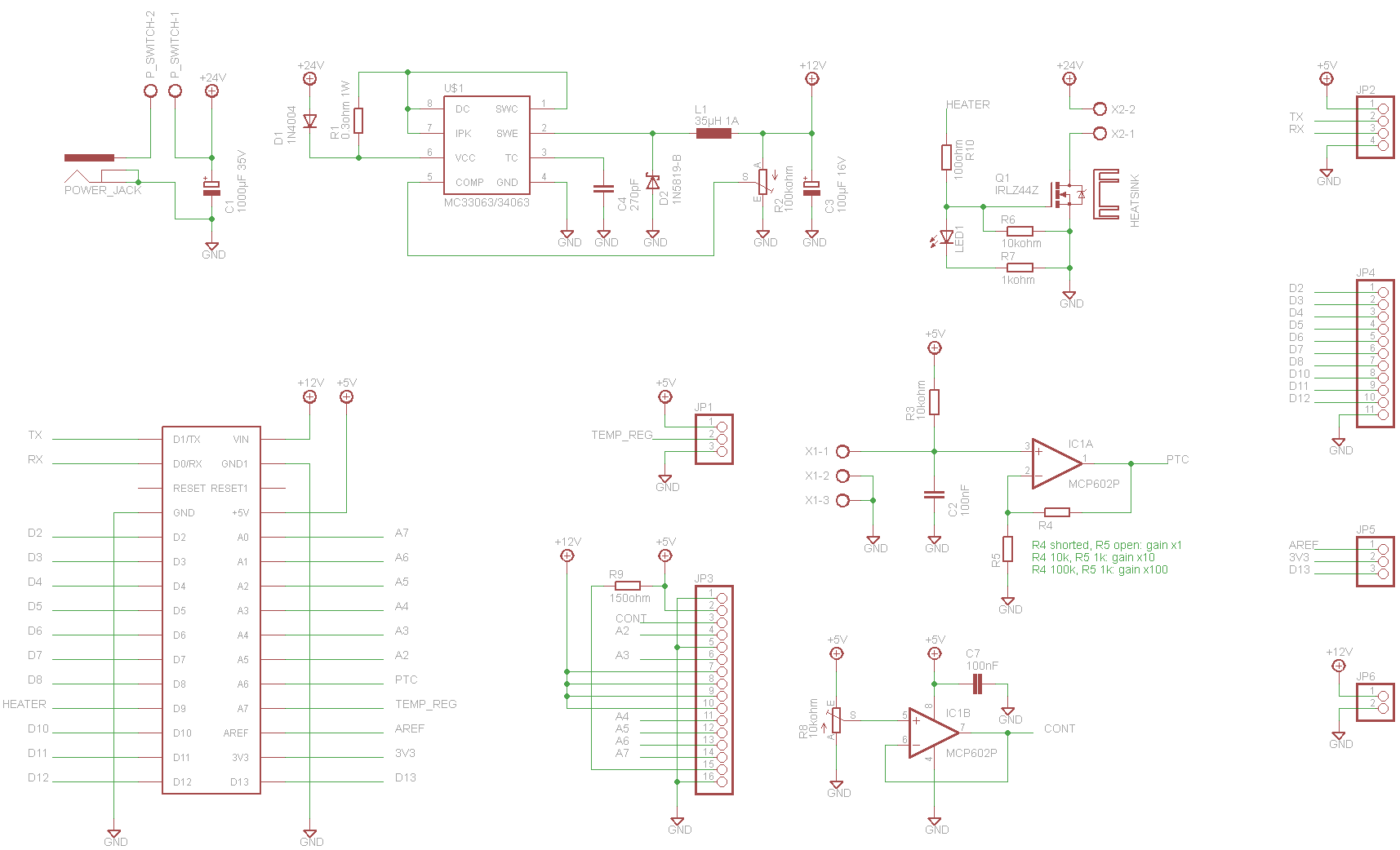 Schematics, board and resistance table | Details | aday.io on