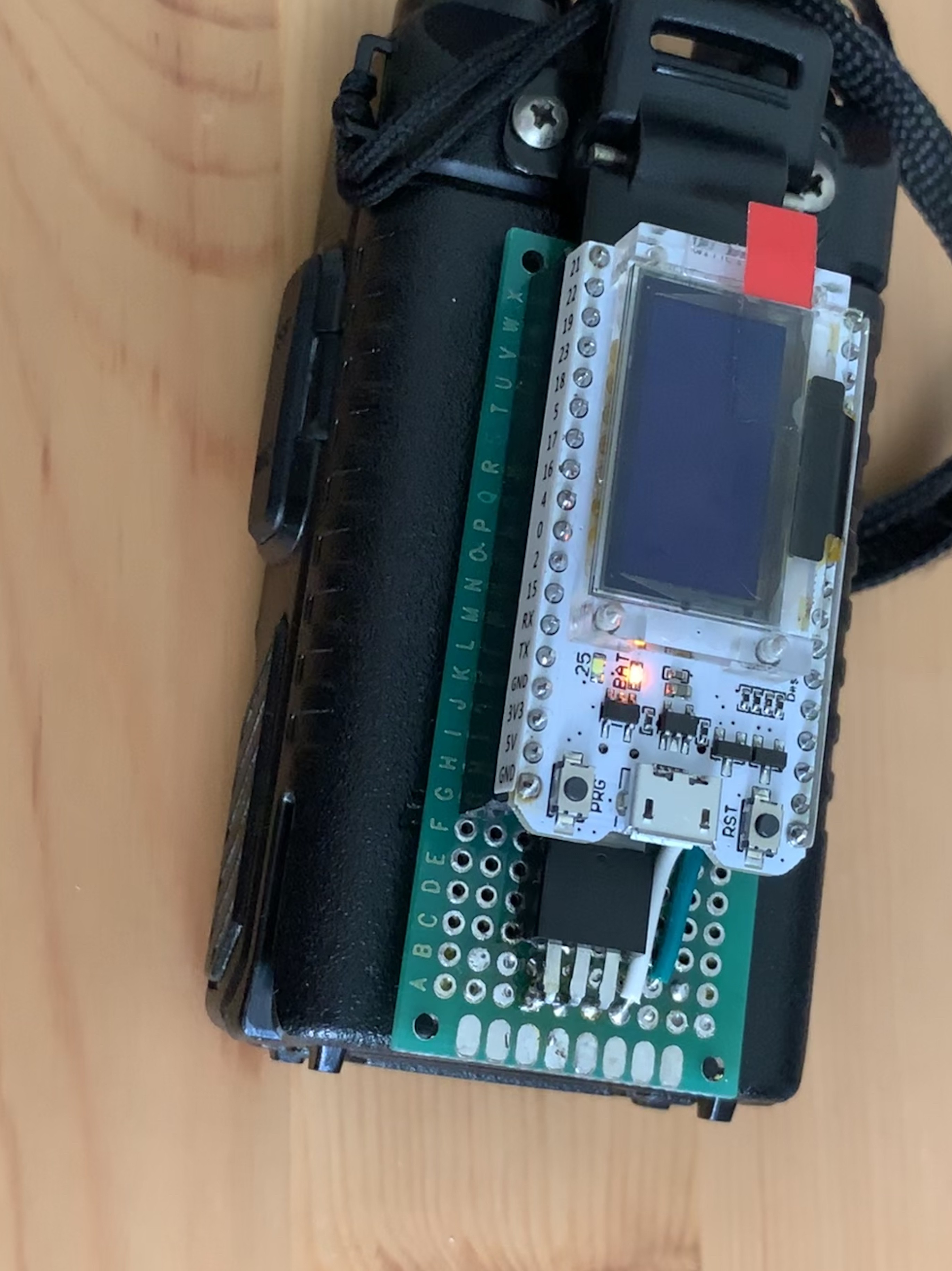 Powering the ESP32 from the UV-5R's battery | Details