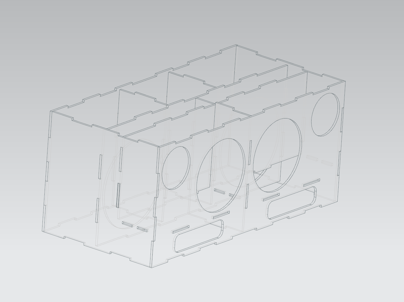 Laser Cut Speaker Enclosure Crossovers Circuit Diagram Stock Vector For T A Width Of 1875 Inches Everything Is Fitting Together Nicely So Far The Empty Compartment In Back Middle Amp