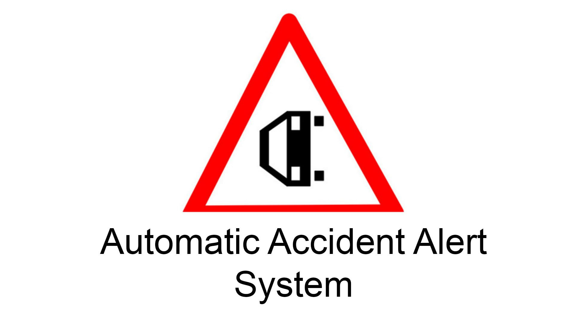 automatic vehicle accident detection and alert