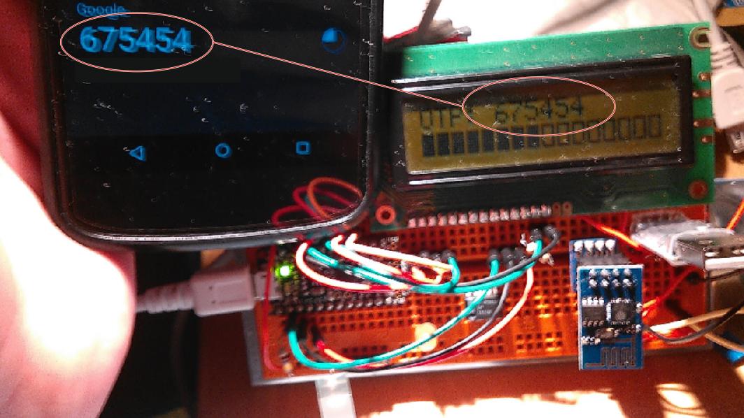 Trinket Pro Time-Based One-Time Password Generator   Hackaday io