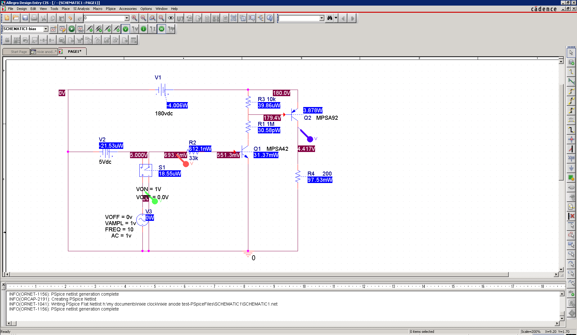Project Nixie And Numitron Clock Circuit Simulator Electronic Software Electrical Simulation