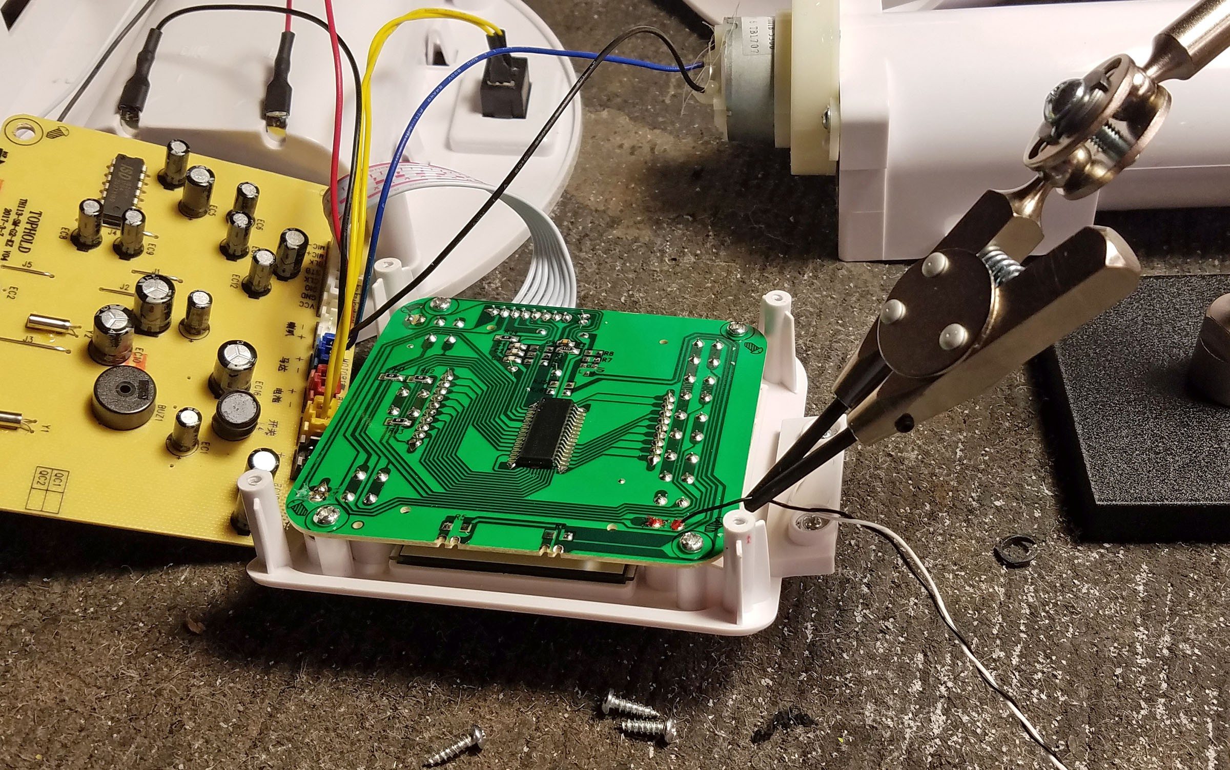Instructions Magic Flute Of Rat Mind Control W Raspberry Pi Pcb Cutting Machine Sewing Modification Electronics Projects The Green Logic Runs At 15v All I Am Really Interested When It Comes To These Pcbs Is Motor There A Manual Override Button Which Turn