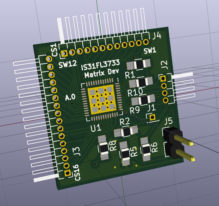 IS31FL3733 Matrix Dev Board   Details   Hackaday io