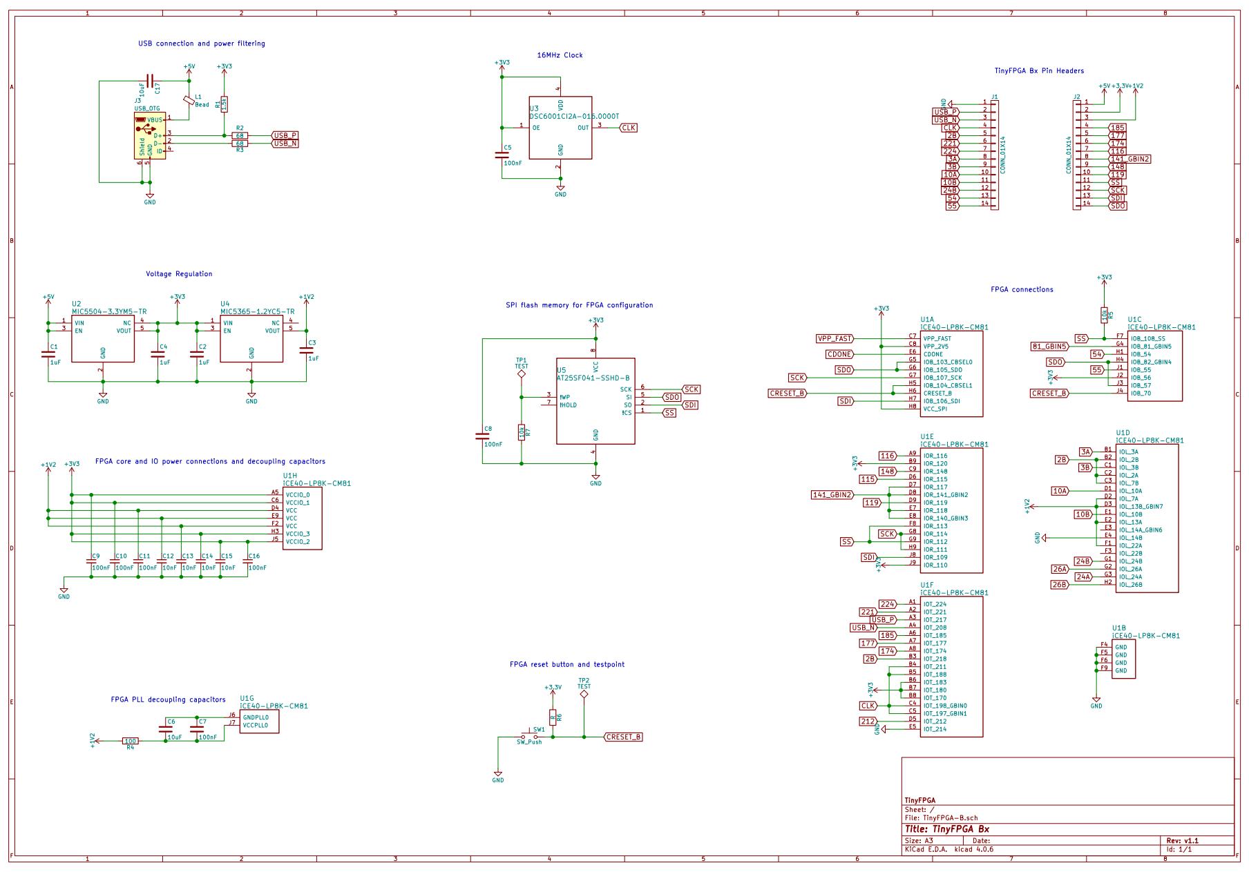 Project | TinyFPGA B-Series | Hackaday io