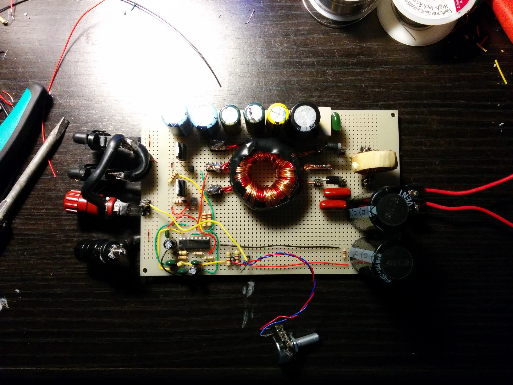 Class D Subwoofer Amplifier Out Of Scrap Power Supply To A Car For Subwoofers In Your Home This Was My First Try At Push Pull Converter Type And Let Me Just Say There Were Many Failures Before Worked The Biggest Issue I Had