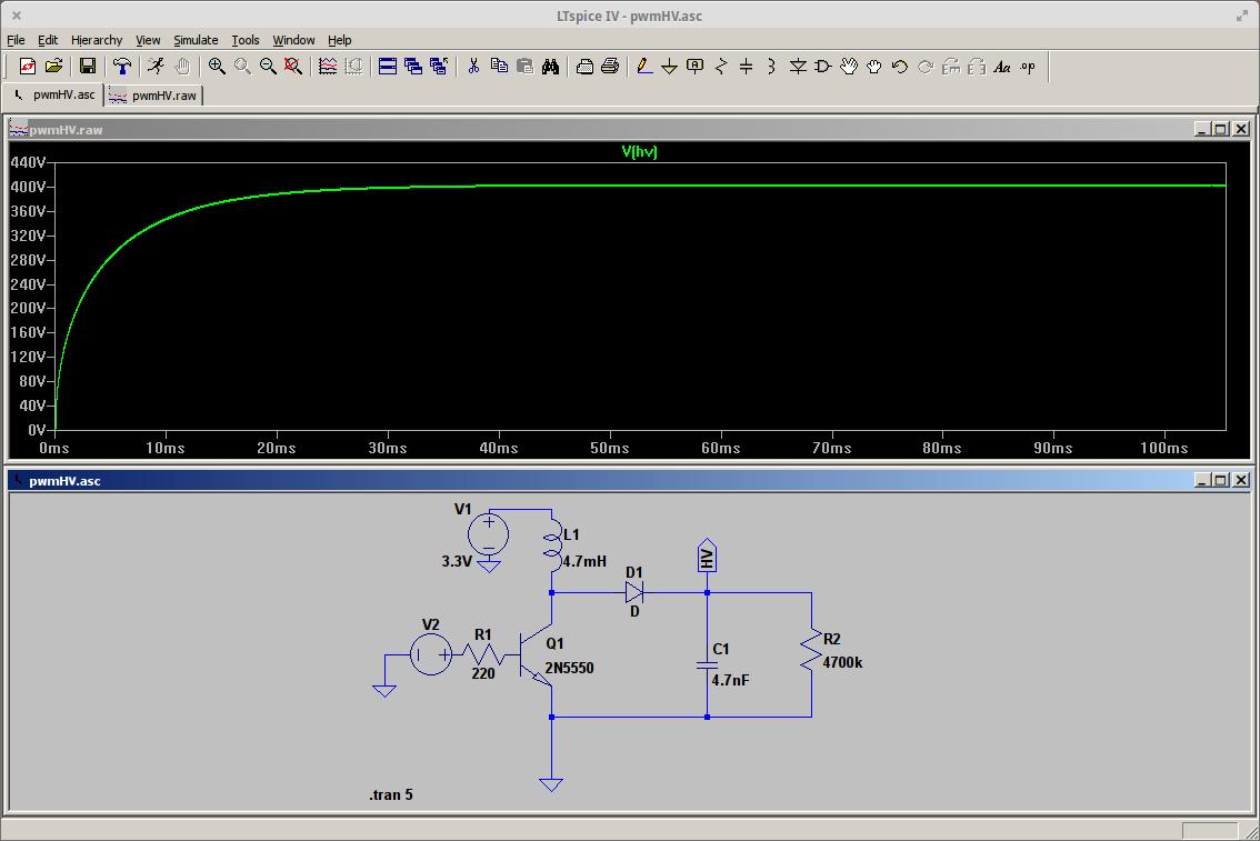 Ltspice Simulation Of Hv Part Details 555 Triangle Waveform Generator Circuit