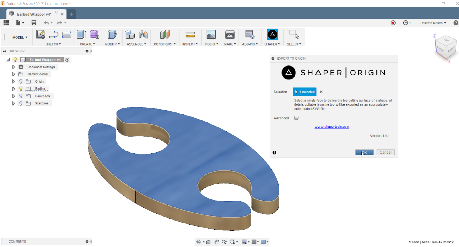 Instructions | Export an SVG File in Fusion 360 | Hackaday io