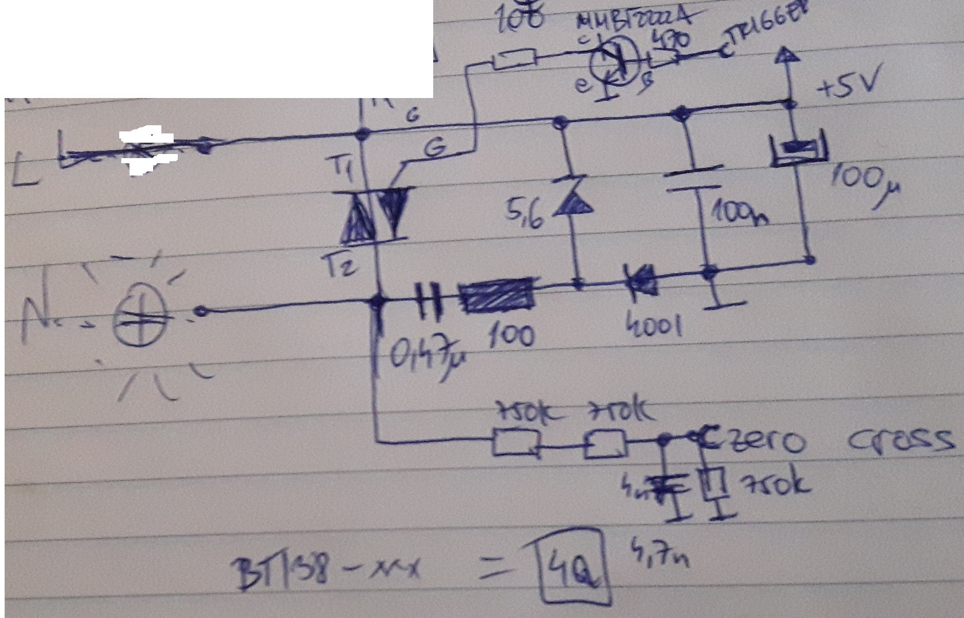 Ir Light Dimmer V2 Zero Cross Circuit A Or Crossing Is An And Very Lazy 10minute Implementation Next Step Microcontroller To Detect Trigger The