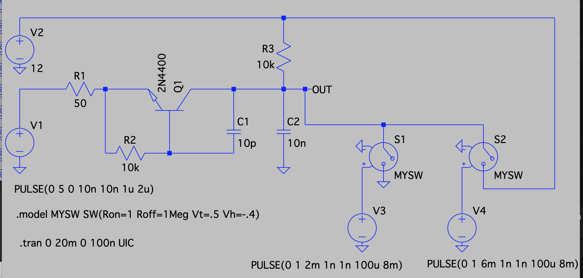 Voltage Controlled Switch By Bc547