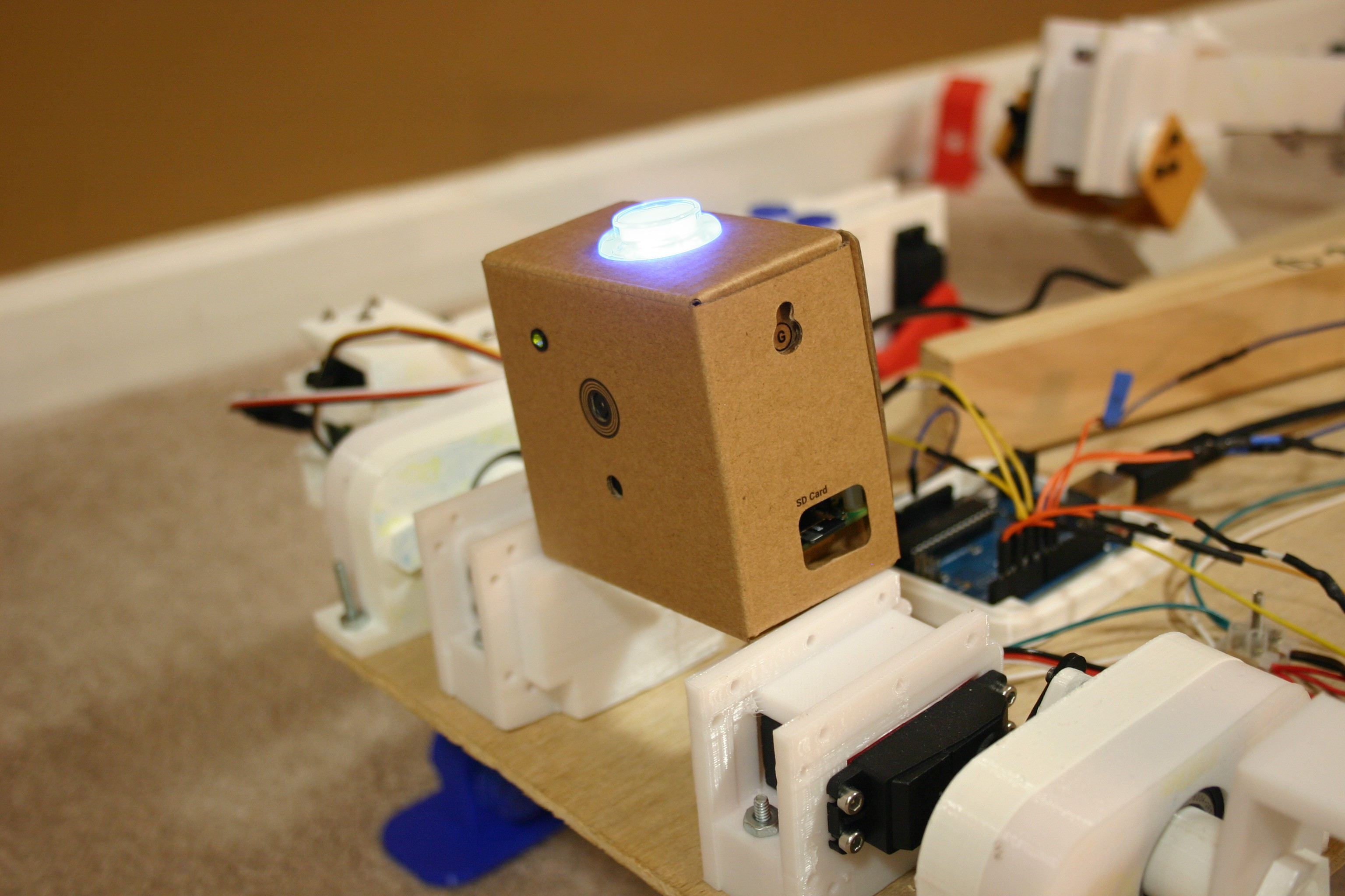 Mikes Robot Dog Piezo Speaker With Distorted Sound Electrical Engineering Stack When There Is A Smile The Light Turns Yellow Big Will Turn Bright And Trigger Buzzer