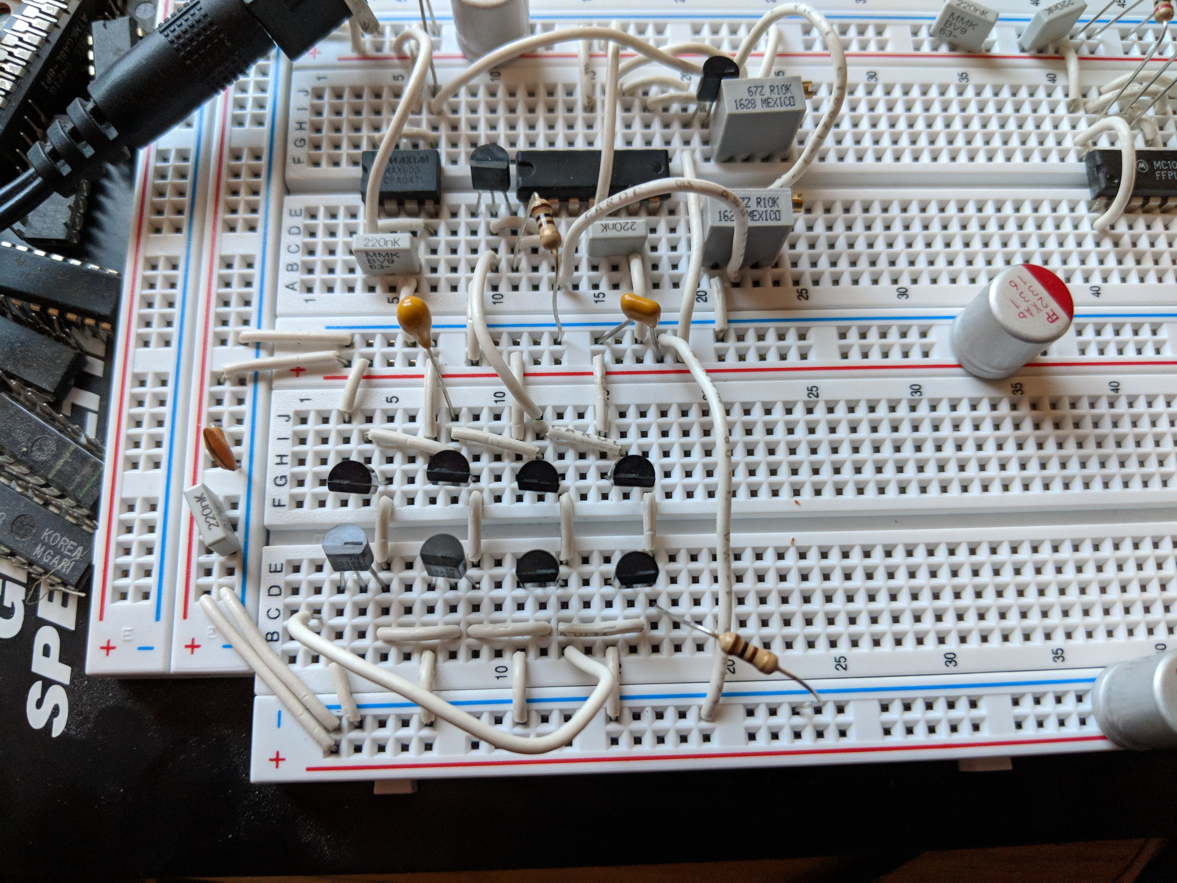 Adventures In Time Integrated Injection Logic Adding Circuitry To The Upper Left Is A 1v Power Supply Regulator And Bias Voltage Generator For Pnp Current Injectors Adjusted 26ma