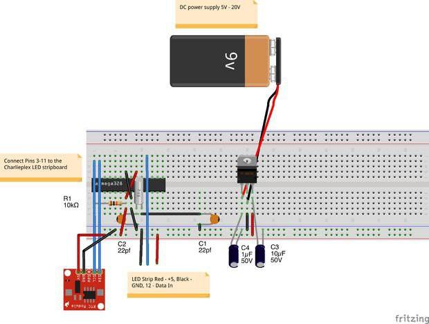 Modulo led RGB - Utilizzo con scheda