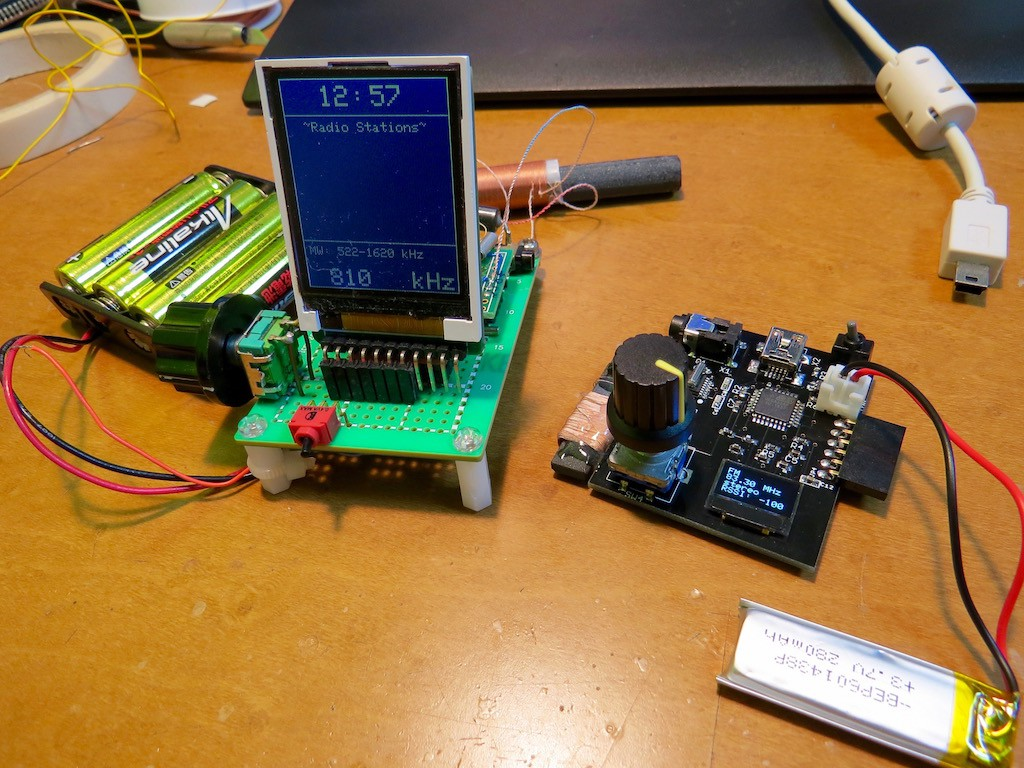 Radio Yes Am Sw Fm By Dsp Chip Signal Booster Short Wave Electronics Project It Is Still Surely Working But I Did Not Make Notes Of Schematic Indeed Has Gravity Sensor Rtc And Myself Dont Remember The Details