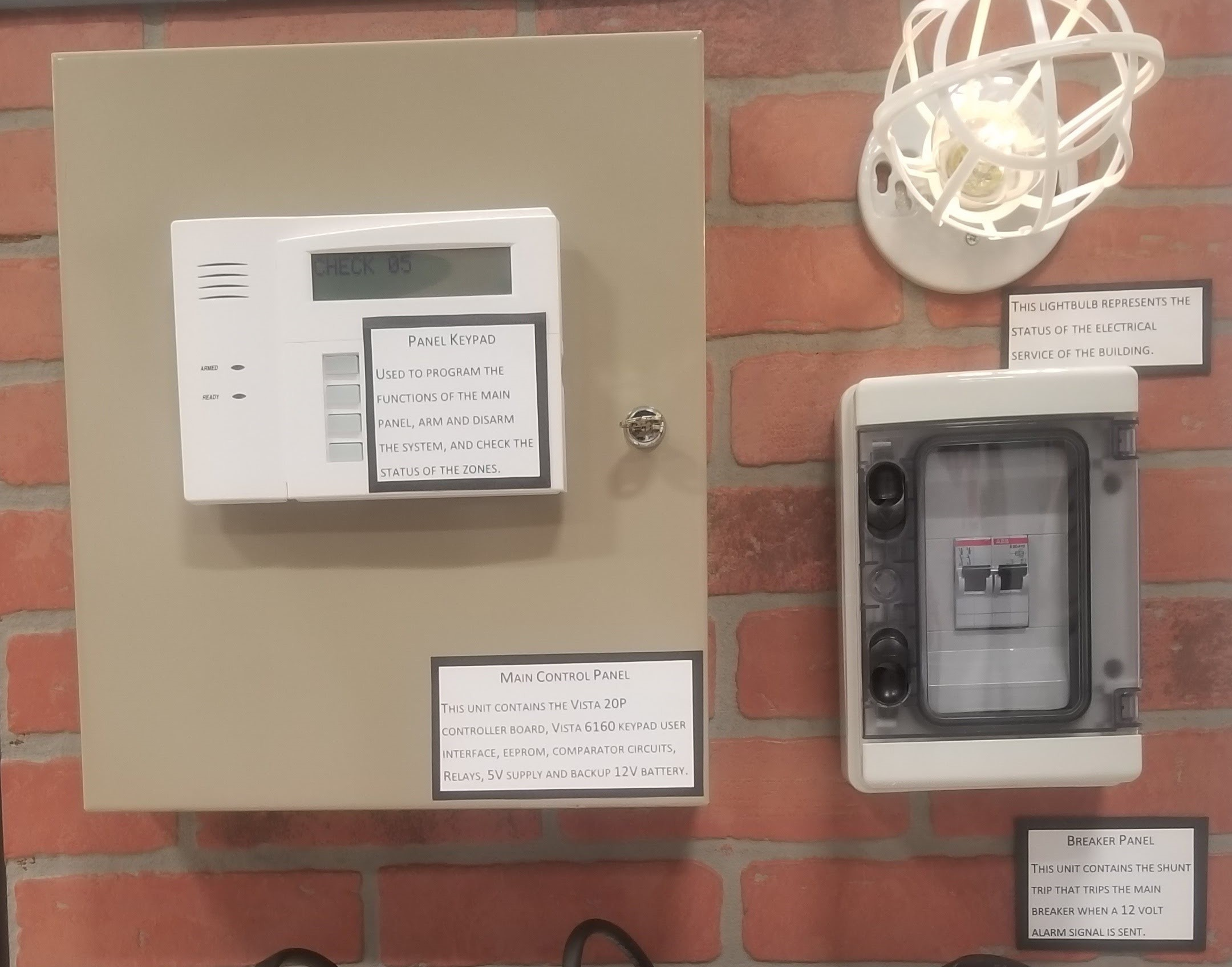 Flood Fault Circuit Interrupter Alarm Circuitphotointerrupter Module Controlcircuit Which Includes Both Audiovisual Alerts As Well An Communication To The Shunt Trip Disconnects Demonstrated By Light Bulb