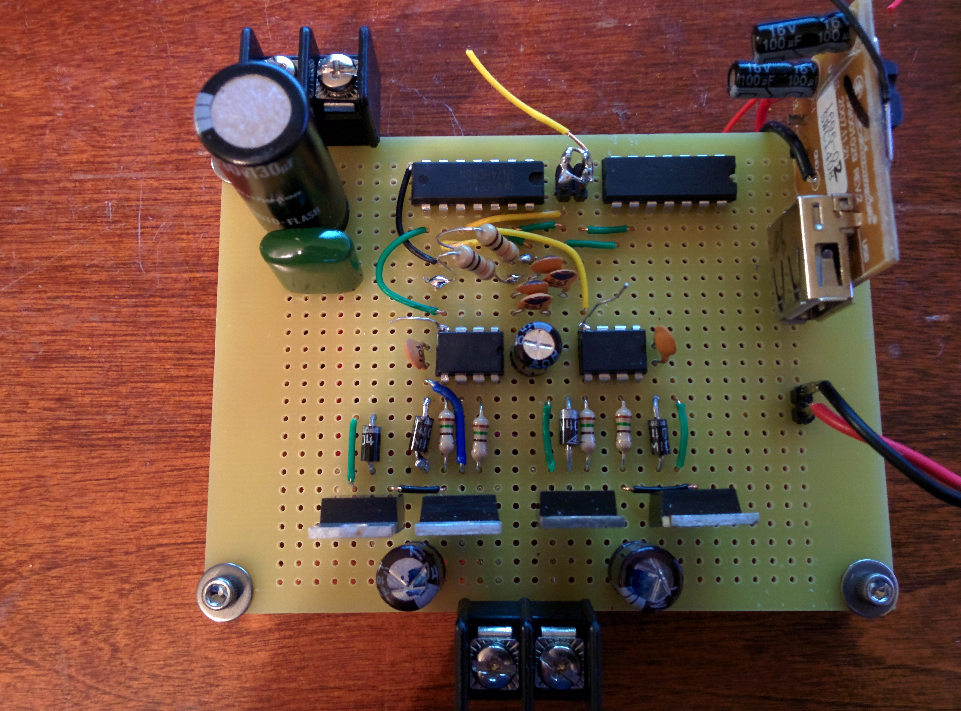 Class D Subwoofer Amplifier Out Of Scrap Image Audio Circuit Board Download This Is The Business Stage Amplfiers Now That We Have A Square Wave From First Can Use It To Switch Big Load